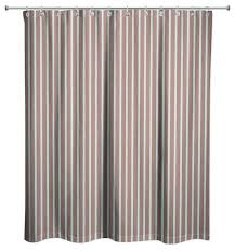 brown stripes shower curtain striped ticking stripe contemporary curtains