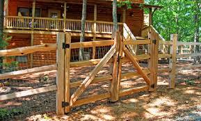 split rail wood fence gate. Cedar 3 Hole Split Rail Fence Dual Drive Gate Wood
