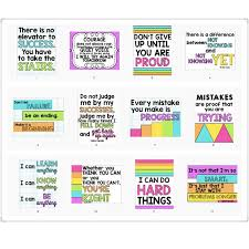 Growth Mindset Chart 12pcs Growth Mindset Learn English Quotes Proverb Classroom A4 Poster Chart Kids Games Educational Toys For Children