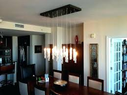 hanging dining room chandelier height