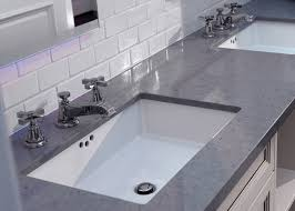 square sink black white quartz bathroom countertops high hardness oem odm