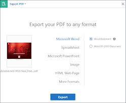 Convert Or Export Pdfs To Other File Formats Adobe Acrobat