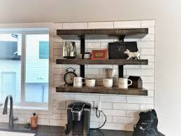 custom kitchen floating shelves thomsen homes feature wall