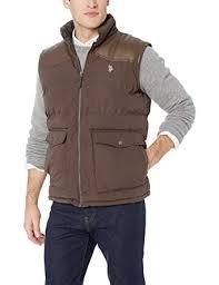 U.S. Polo Assn. <b>Men's</b> Signature <b>Vest</b> with <b>Pu</b> Yoke at Amazon ...