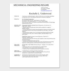 Mechanical Engineer Resume Template 40 Samples Formats Delectable Be Mechanical Engineering Resume