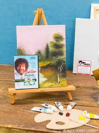 our art department features bob ross s s book guides art sets canvas and all the materials you ll need to start painting like him and repairing