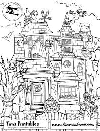 Small Picture Halloween Coloring Pages Of Haunted House Coloring Pages