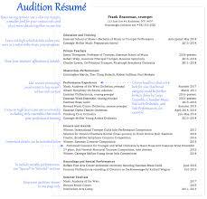Musician Resume Moa Format Music Samples Image Tem Sevte