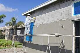 how to stucco a cinder block wall