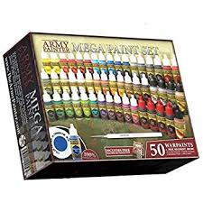The Army Painter Miniature Painting Kit With Bonus Wargamer Regiment Miniature Paint Brush Acrylic Model Paint Set With 50 Bottles Of Non Toxic