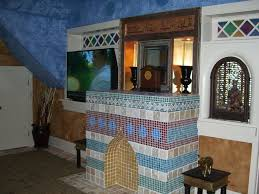 anniversary inn logan eclectic living room also flat screen t v stained glass tiled fire place