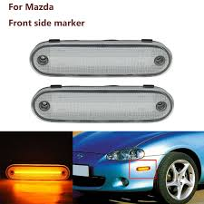 Front Side Marker Light Big Discount Db44d 2pcs Clear Or Smoked Lens Amber Led