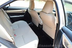 2014 Toyota Corolla Altis Diesel Review rear seat - Indian Autos blog