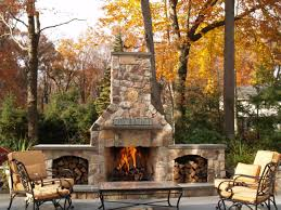image of simple outdoor stone fireplace kits