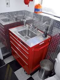 garage sink ideas. Sink Vanity Made From Rolling Tool Box Garage Bathroom Man Cave Inside Ideas