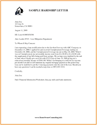 mortgage modification hardship letter loan modification hardship letter template templates