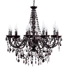 cassie french provincial 12 arm black acrylic chandelier