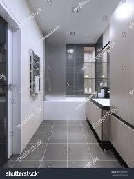 High Tech Bathroom Expensive Hightech Bathroom Trend Beige Matt Stock Illustration