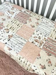 woodland baby bedding quilt fox crib bedding girl woodland nursery girl fawn by quilt woodland creature baby bedding