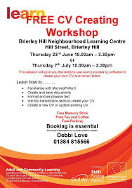 cv workshop sessions volunteering counts in dudley borough