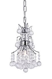 1 light mini chandelier with chrome finish