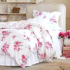 simply shabby chic fl duvet set pink white covers cover ikea best images on bed