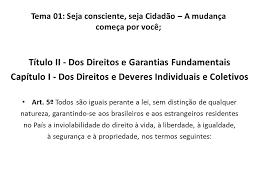 direitos e garantias fundamentais artigo 5