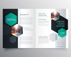 Brochure Template With Hexagonal Shapes Magazine Layout
