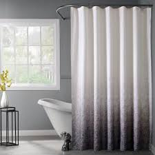 white lace shower curtain. Lace Ombré Shower Curtain In Black White