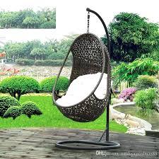hanging basket chair cushions rattan rocking wicker swing garden
