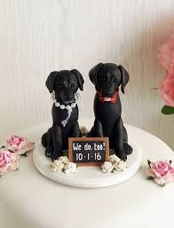 Dog Cake Topper Dog Wedding Cake Topper Two By Tialovesarchie