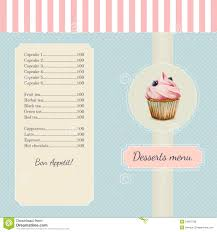 confectionery menu template watercolor stock vector image confectionery menu template watercolor