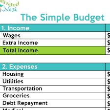 Simple Free Printable Budget Worksheet Download Them Or Print