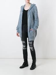 faith connexion faux fur zipped coat light blue women clothing faith connexion shawl collar blazer