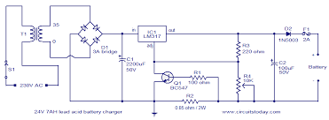 24v lead acid battery charger circuit electronic circuits and 24v lead acid battery charger circuit