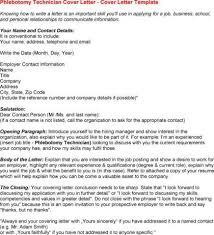 Phlebotomy Cover Letter For Resume Lettering Cover Letter