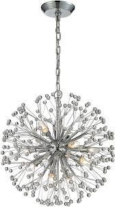 elk 11545 9 starburst modern polished chrome halogen mini chandelier light loading zoom