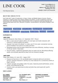 Chef Cv Template Chef Resume Sample Writing Guide Resume Genius