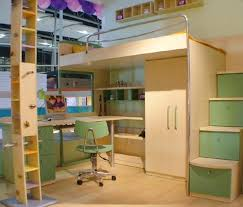 Exellent Cool Bunk Beds With Desk Kids Bed Stunning Twin Throughout Design Decorating