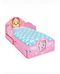 paw patrol skye toddler bed with storage