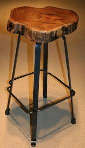 industrial bar stool forged metal natural mesquite rustic metal and wood bar stools metal and wood