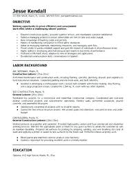 Sample Contract Summary Template Mesmerizing General Contractor Resume Template Example Of Summary Examples