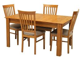 american style dining room with solid oak wood dining table set 4 people wooden chairs