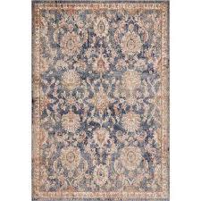 manor denim chester 4 ft x 6 ft traditional medallion area rug