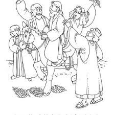 Small Picture Cartoon of Jesus Rode a Donkey in Palm Sunday Coloring Page