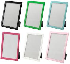ikea set 6 picture frames 8 5 x11 blue white pink black green hang