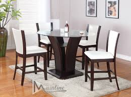 Enclave White Table 4 Chairs 22110 22140 Mainline Inc Counter