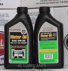 12 x Genuine Toyota Full Synthetic 0W-20 Engine Oil 1-Quart 0.946 ...