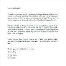 Thank You Letter For Donations Interesting Thank You Letter For Scholarship Donor Sample Formal Template