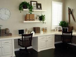 neutral home office ideas. Gorgeous Neutral Home Office For Two With Wraparound Desk Hgtv Ideas